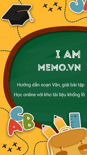 Memo.vn - Hướng dẫn soạn văn, giải bài tập THCS, THPT